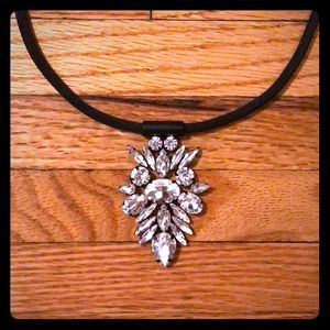 nOir black CZ pendant necklace